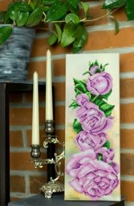 Вышитая картина Розовый аккорд