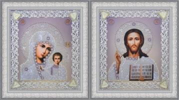 Набор венчальных икон (серебро)