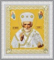 Икона Святителя Чудотворца (золото) ажур