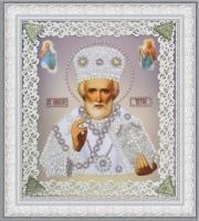 Икона Святителя Чудотворца (серебро) ажур