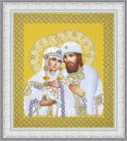 Святые Петр и Феврония  (жемчуг) золото