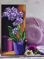 Вышитая бисером картина Орхидея