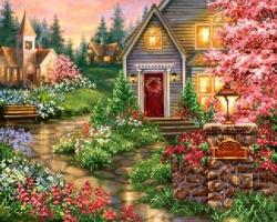Дом в цвету