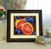 Embroidered picture Grapefruit