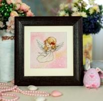 Вышитая картина Ангелочек