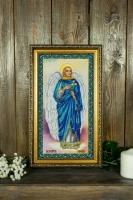 Вышитая картина Икона Святого Архангела Гавриила