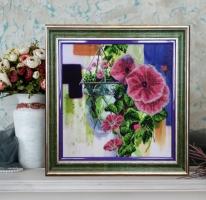 Вышитая бисером картина Цветочная акварель