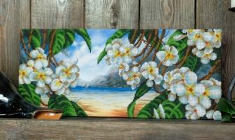 Вышитая картина Райский остров