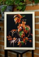 Вышитая картина Осенний натюрморт