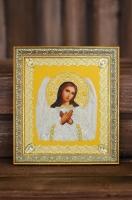 Вышитая бисером Икона Ангела Хранителя