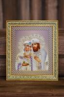 Beaded Icon Saints Peter and Fevronia