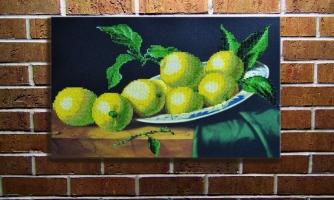 """Вышитая картина """"Натюрморт с лимонами"""""""